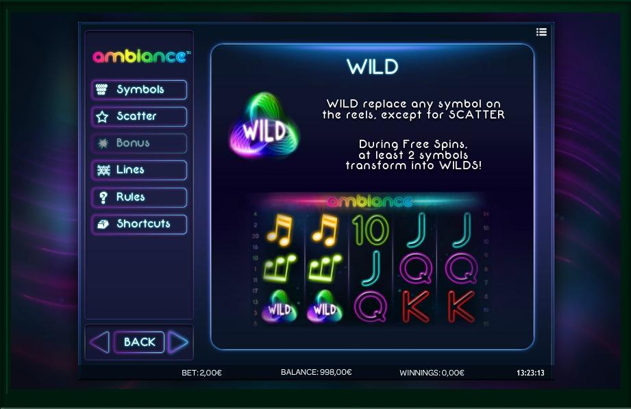 ambiance slot machine detail image 3