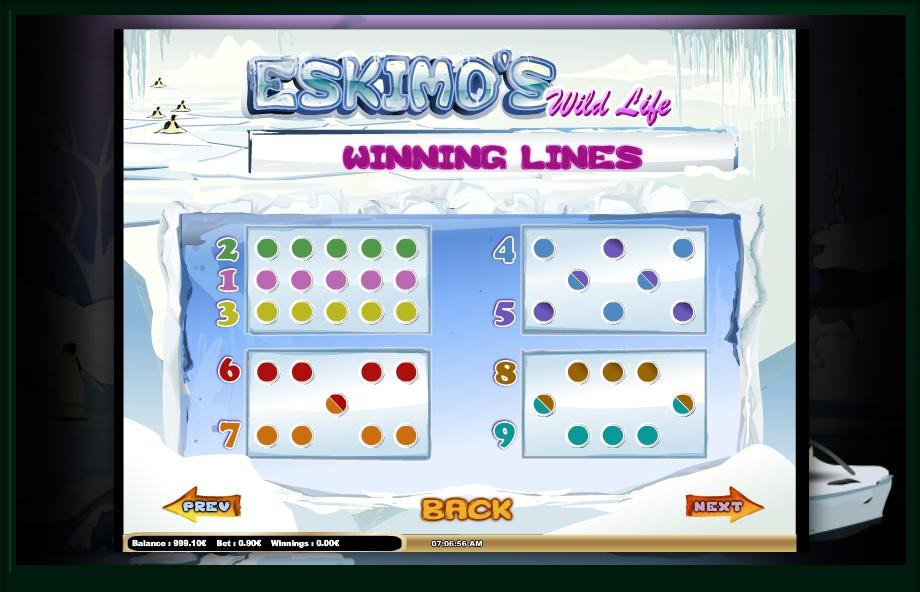 eskimo's wild life slot machine detail image 1
