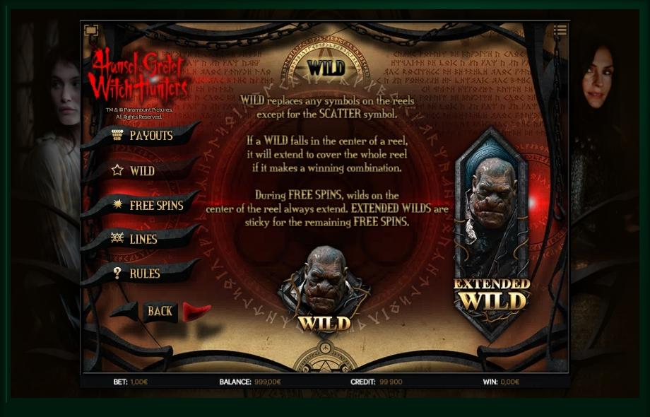 hansel & gretel witch hunters slot machine detail image 3