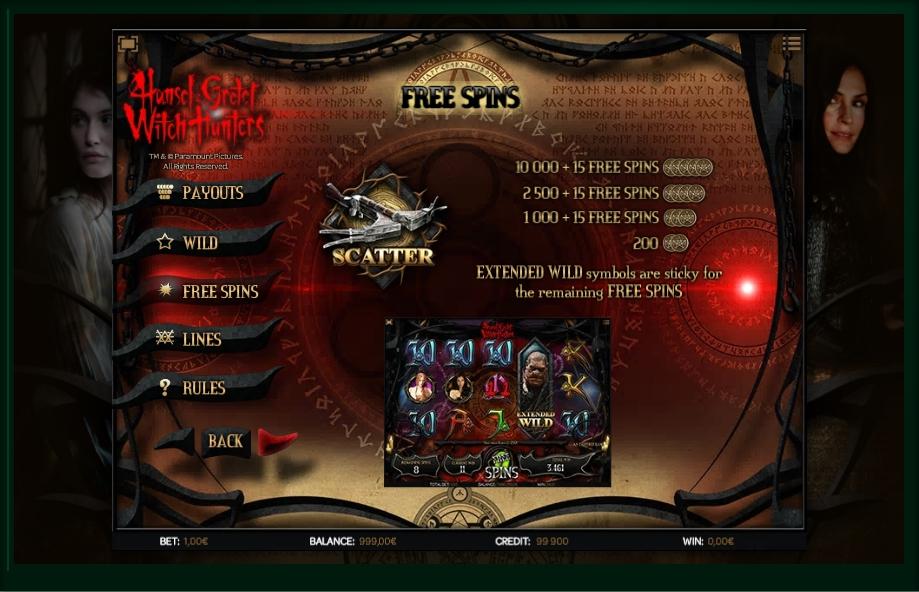 hansel & gretel witch hunters slot machine detail image 2