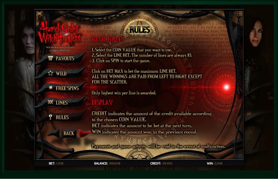 hansel & gretel witch hunters slot machine detail image 0