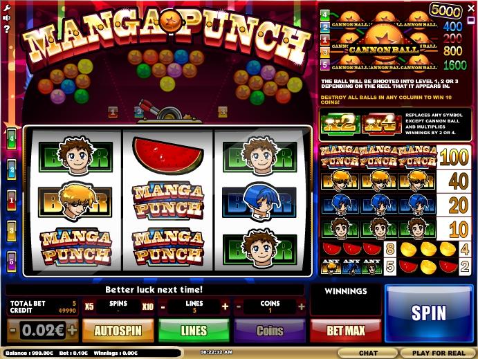 Manga Punch Slot Machine