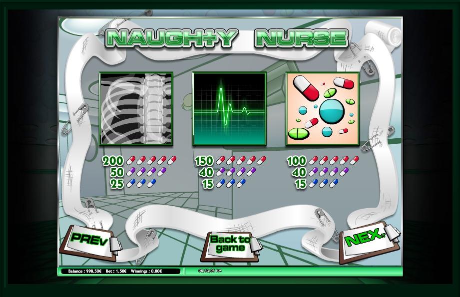 Naughty Nurse Slot Machine