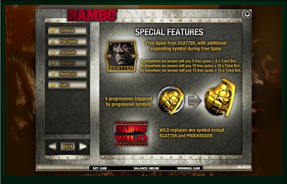 Rambo Slot Machine