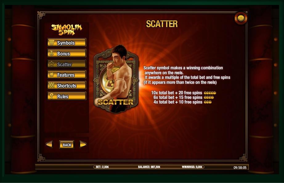shaolin spin slot machine detail image 3