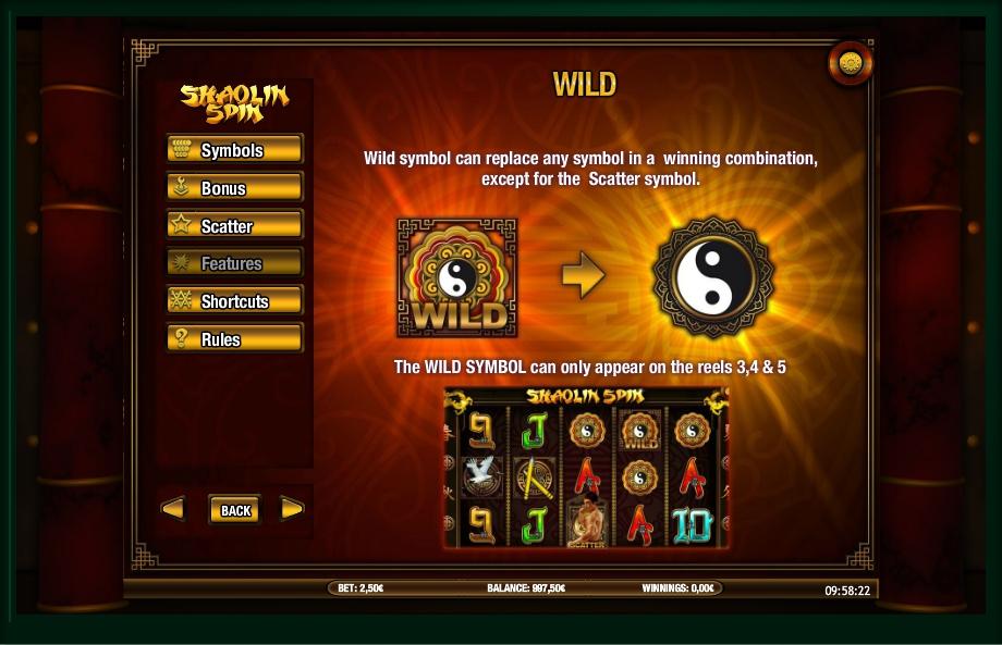shaolin spin slot machine detail image 2