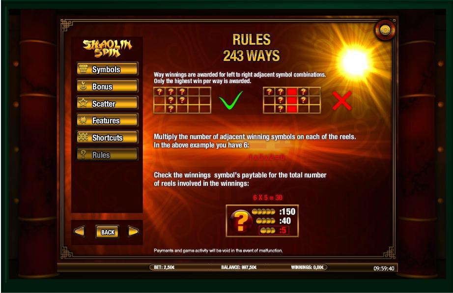 shaolin spin slot machine detail image 0