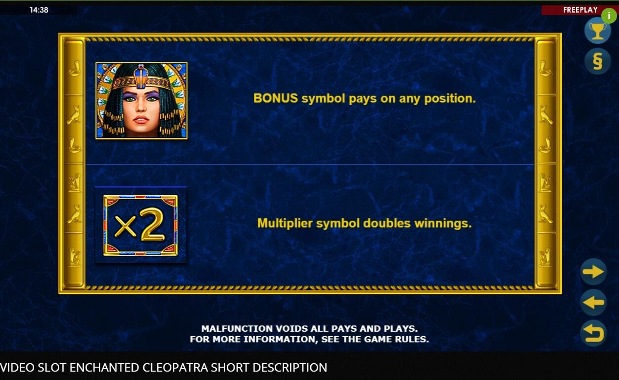 Enchanted Cleopatra Slot Machine
