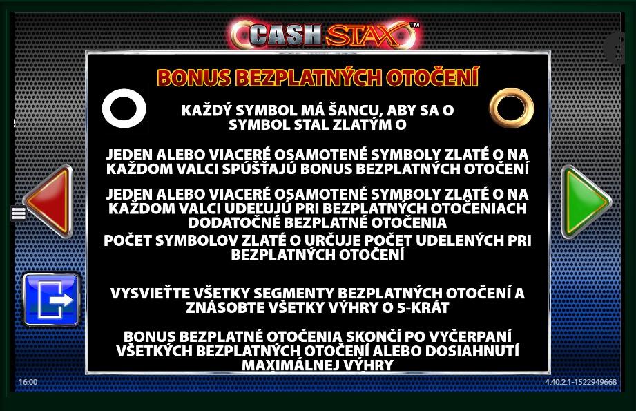 Wins cash stax slot machine online barcrest zip attendant