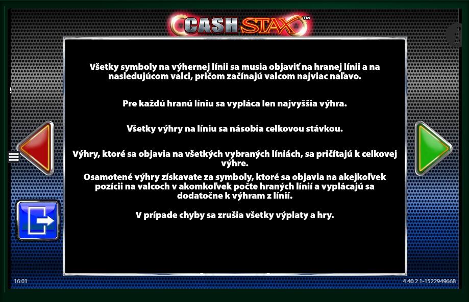Online cash stax slot machine online barcrest land