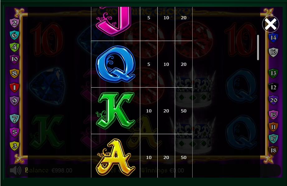 Crowning Glory Slot Machine