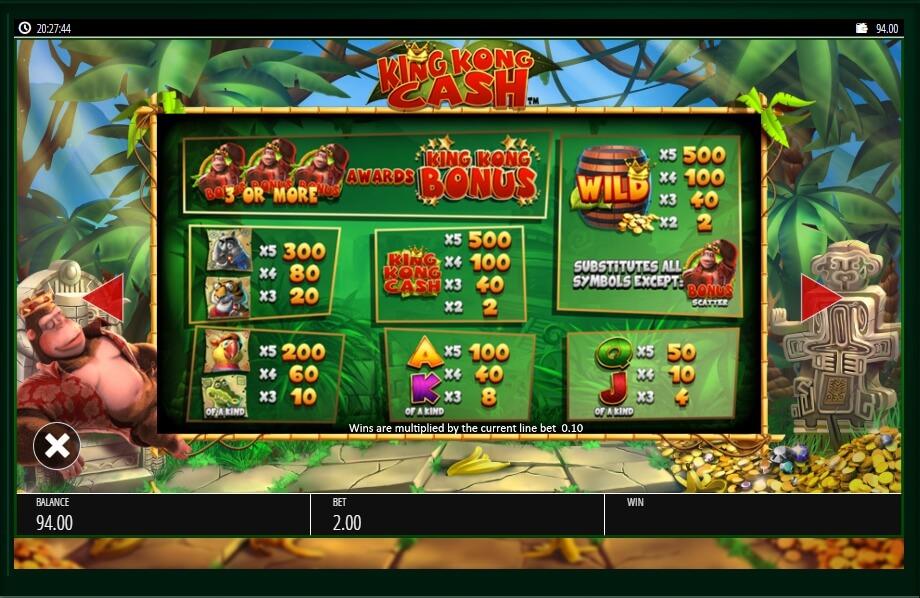 King Kong Cash Jackpot King Slot Machine