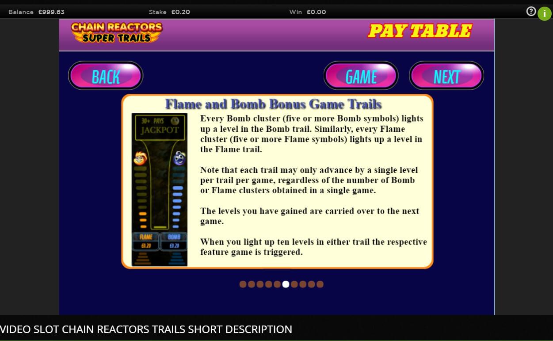 Chain Reactors Super Trails Slot Machine