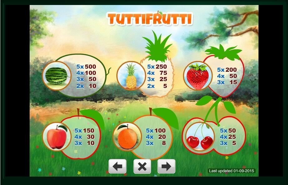 Tutti Frutti Slot Machine