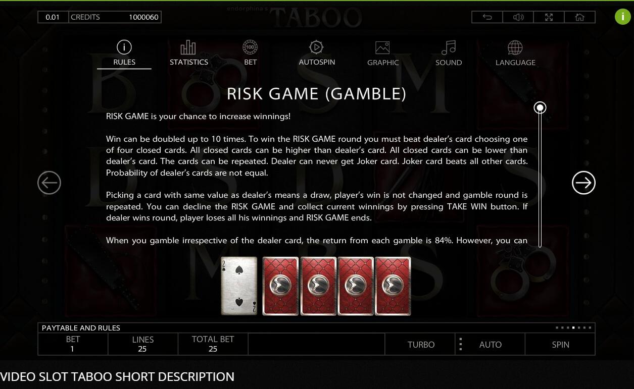 Taboo Slot Machine