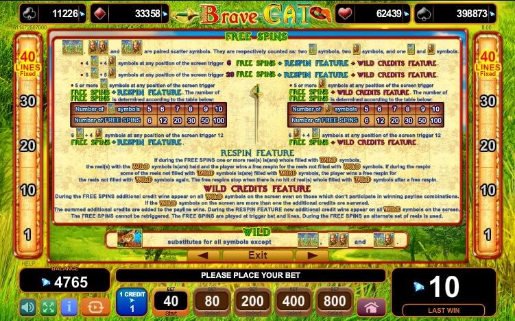 Brave Cat Slot Machine