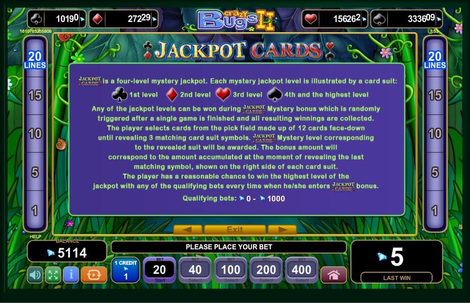 Crazy Bugs II Slot Machine