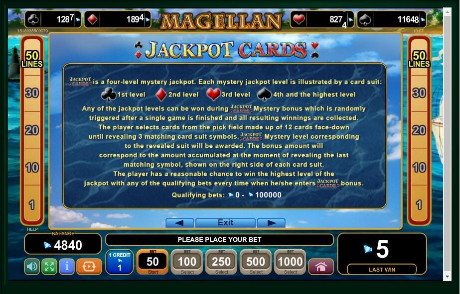 Magellan Slot Machine