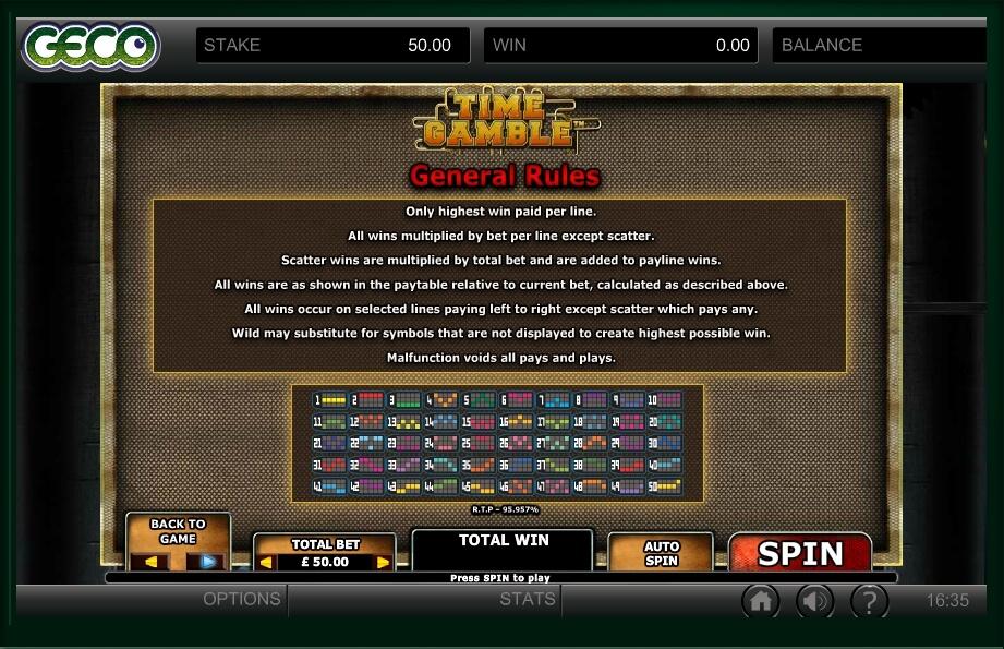 Time Gamble Slot Machine