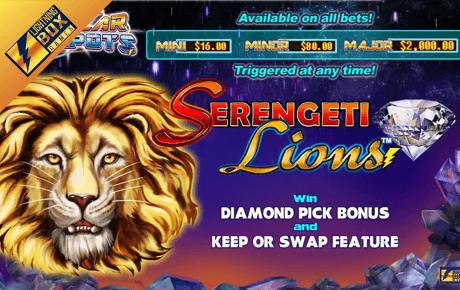 stellar jackpots with serengeti lions slot machine online
