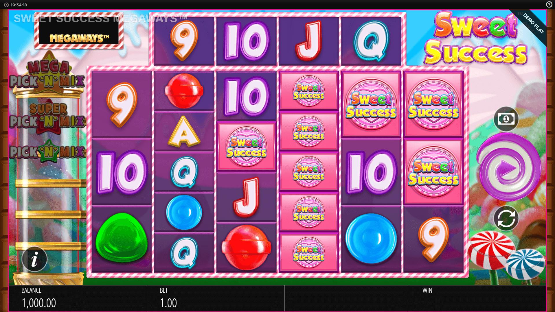 Sweet Success Megaways slot machine screenshot