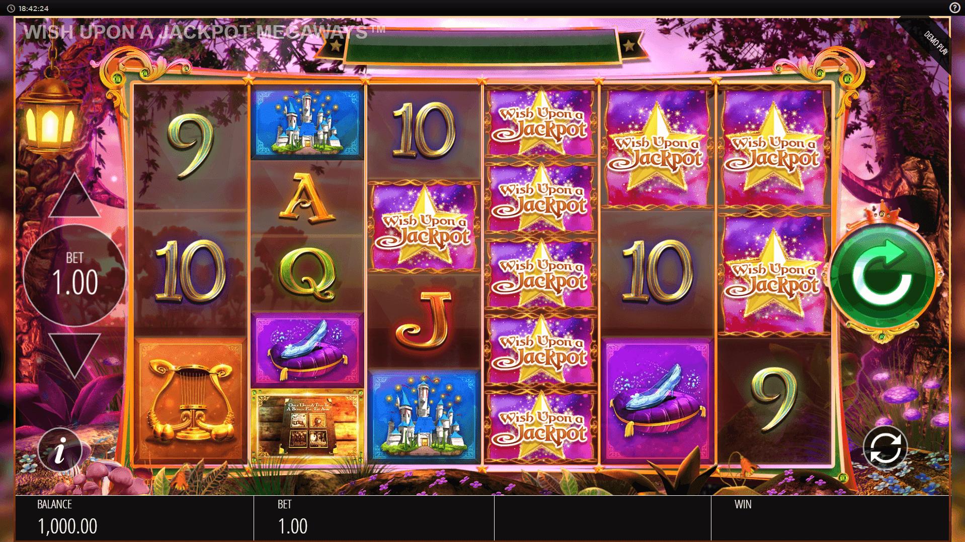 Wish Upon A Jackpot Megaways slot machine screenshot