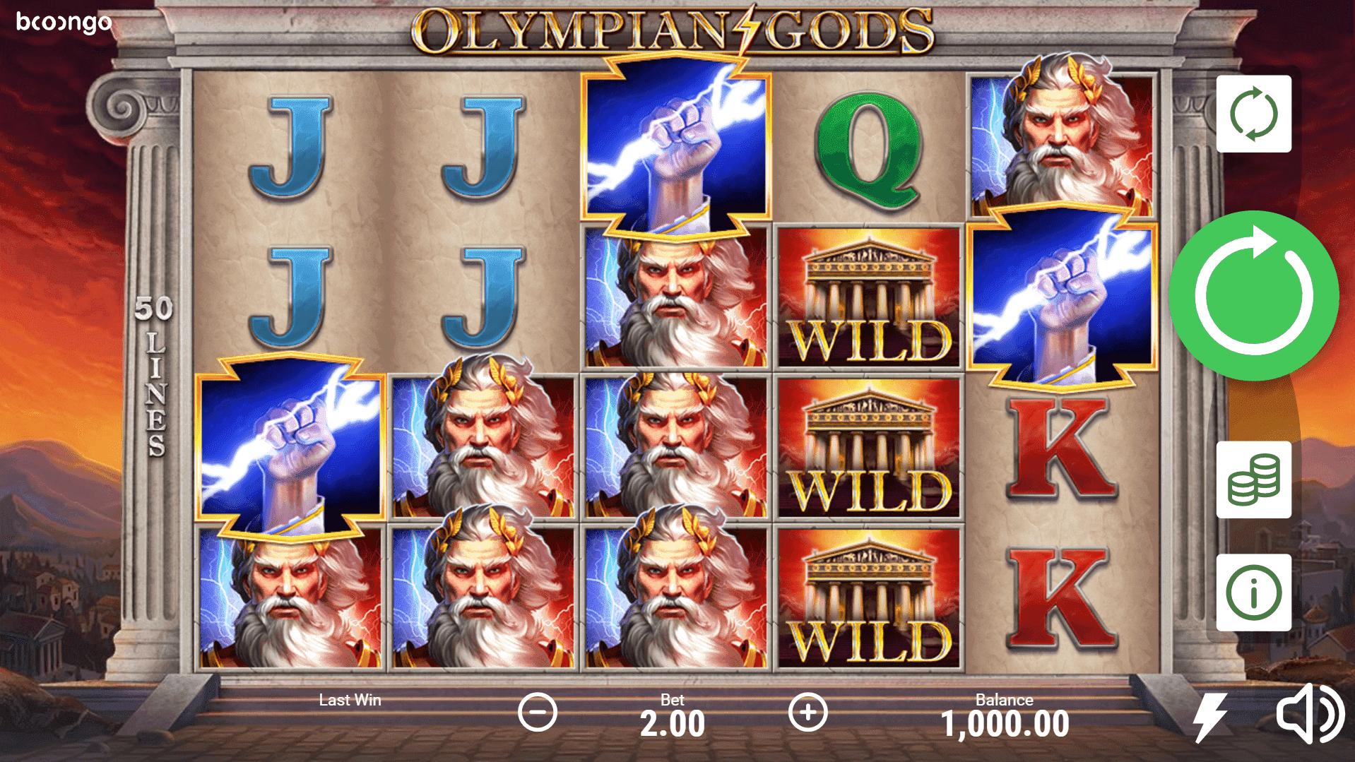 Olympian Gods slot machine screenshot