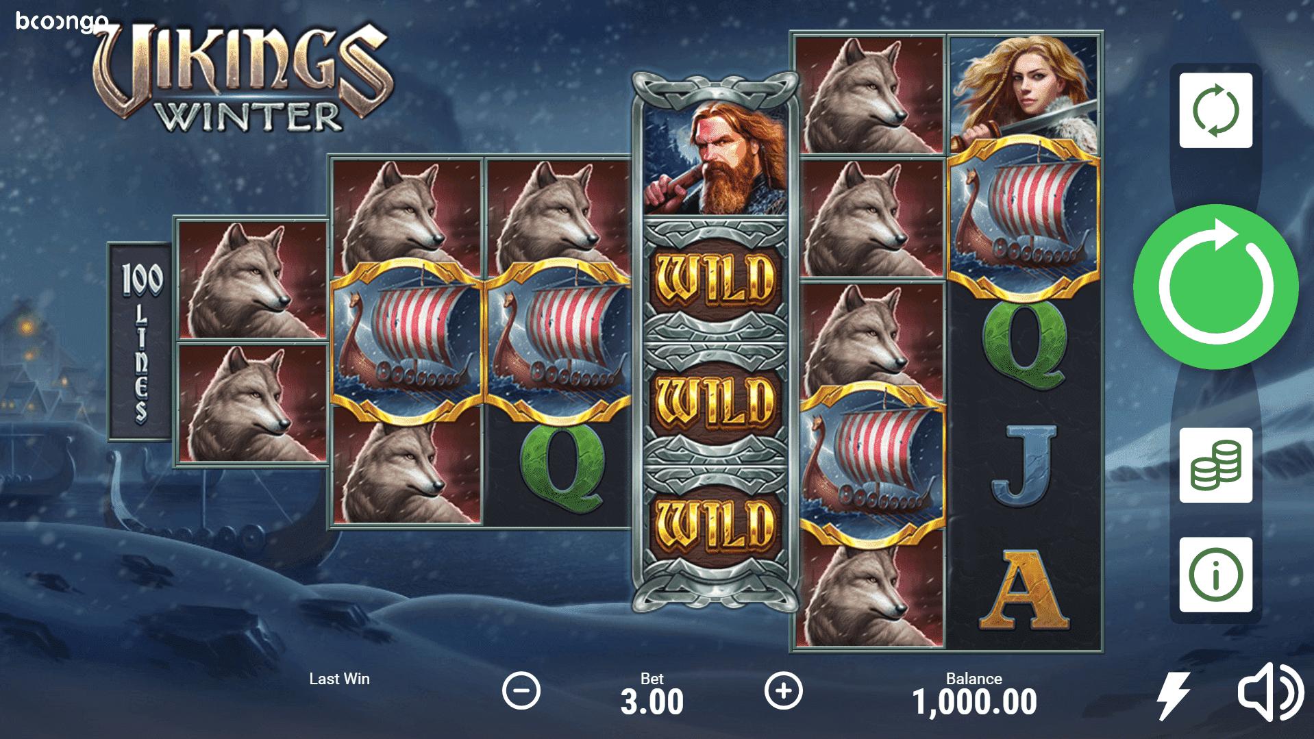 Vikings Winter slot machine screenshot