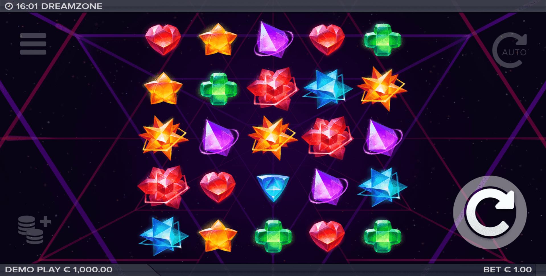 Dreamzone slot machine screenshot