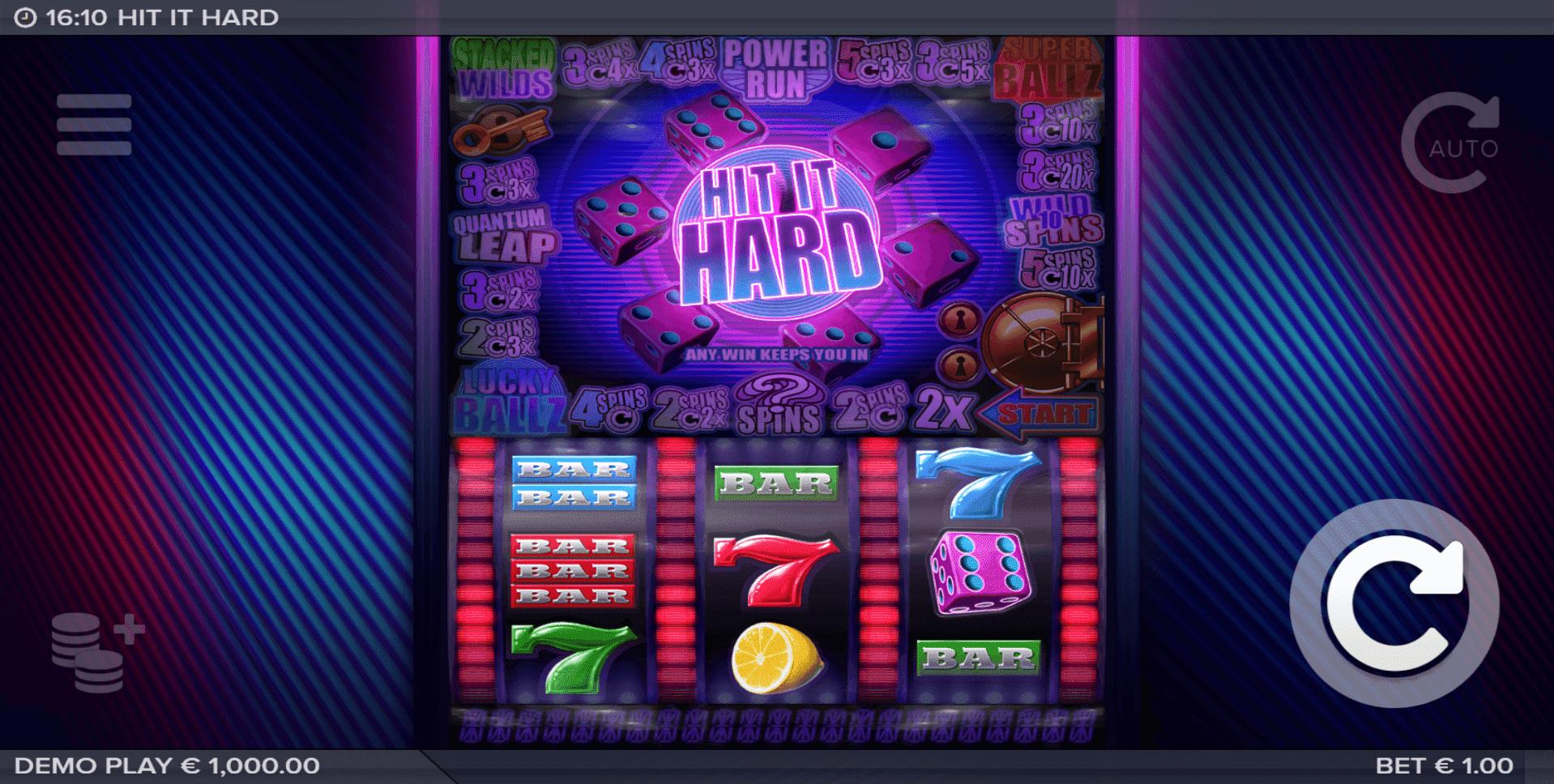 Hit It Hard slot machine screenshot