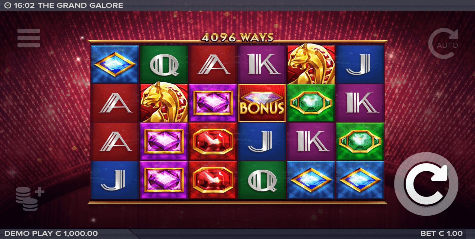 Grand Galore slot machine screenshot