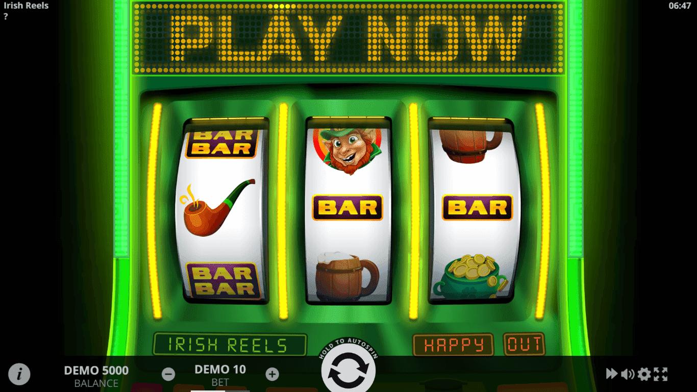 Irish Reels slot machine screenshot