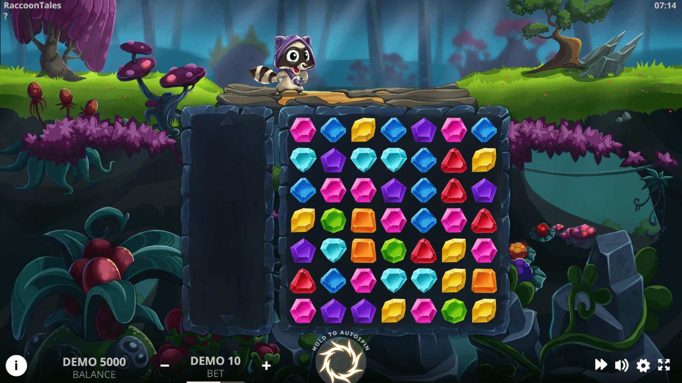 Raccoon Tales slot machine screenshot