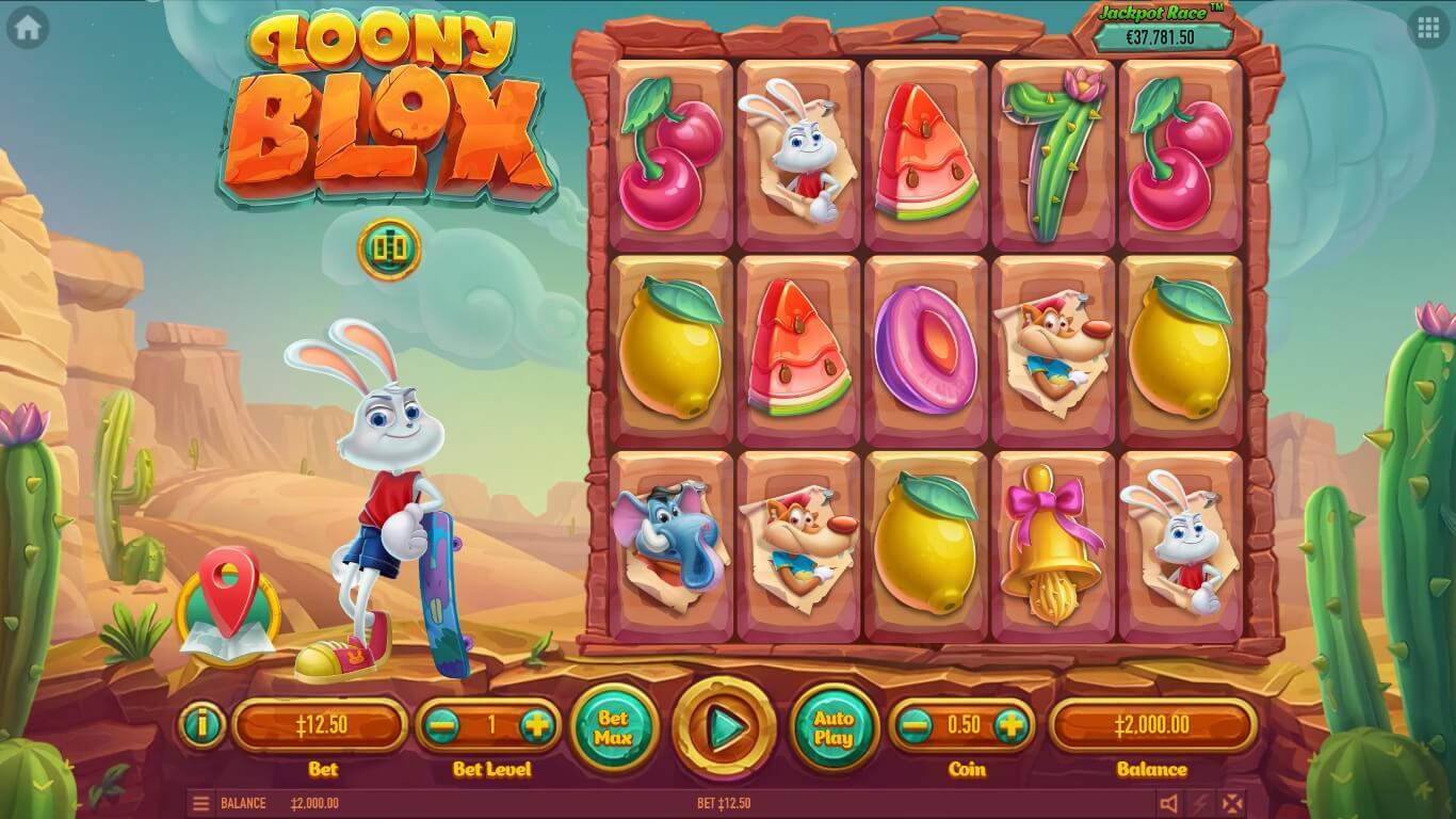 Loony Blox slot machine screenshot