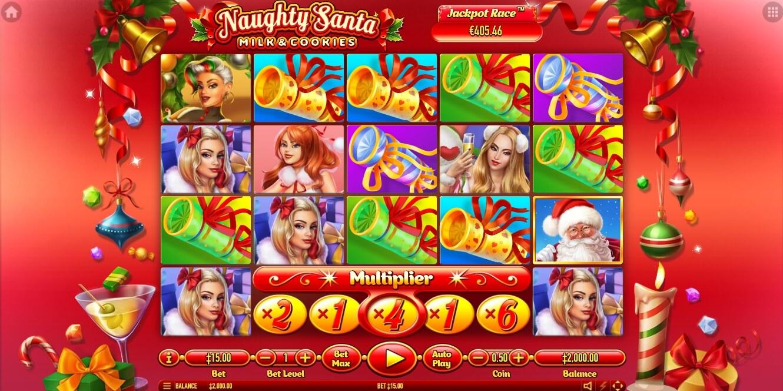 Naughty Santa slot machine screenshot
