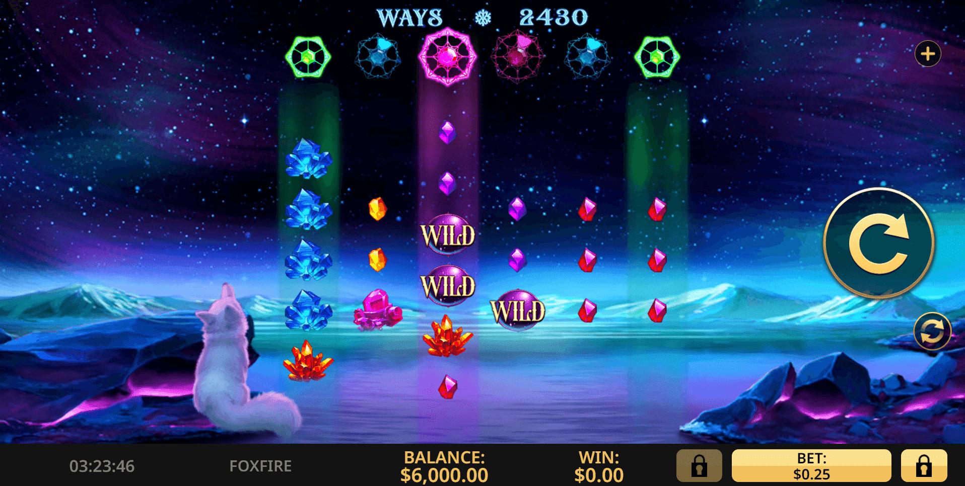 Fox Fire slot machine screenshot