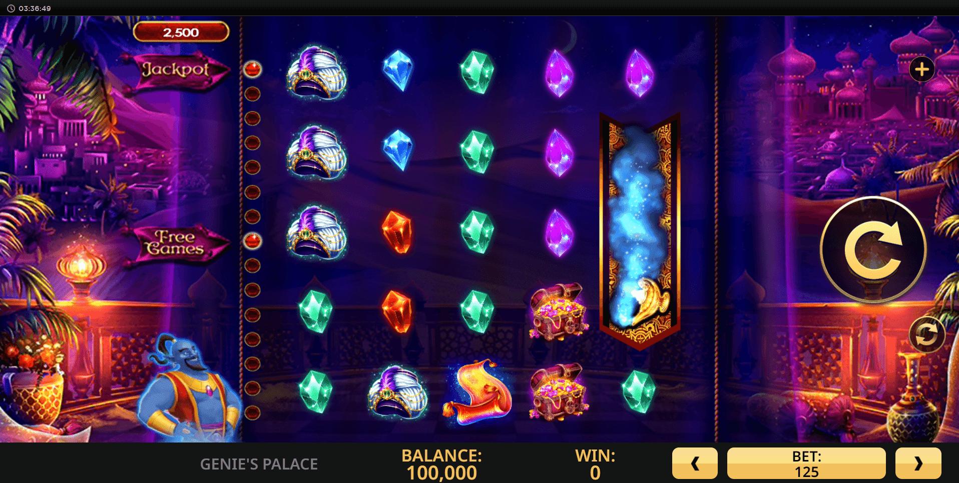 Genies Palace slot machine screenshot