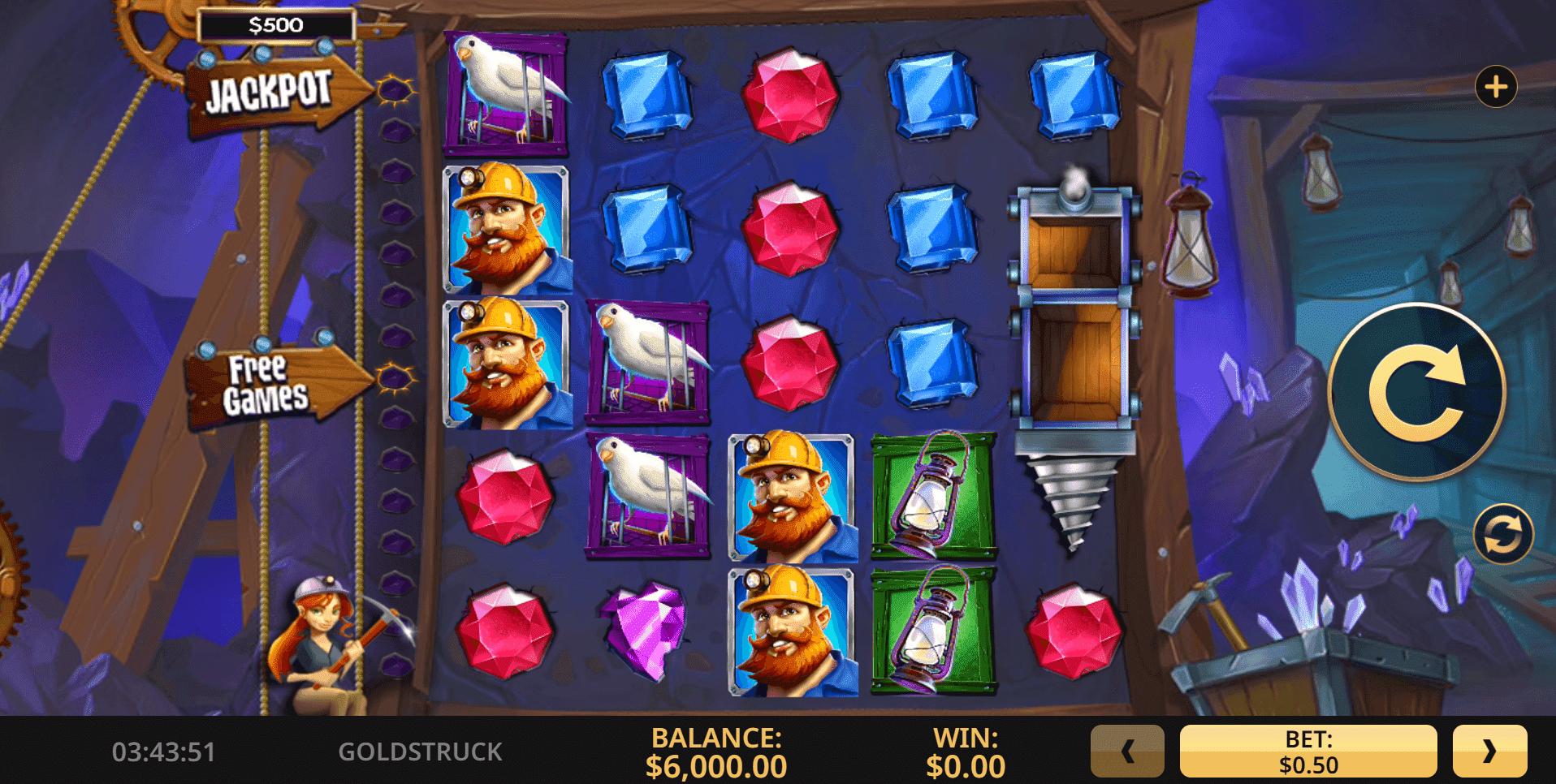 Goldstruck slot machine screenshot
