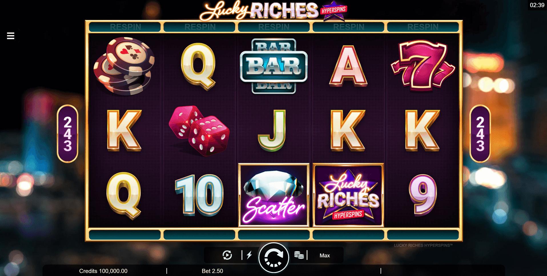 Lucky Riches Hyperspins slot machine screenshot