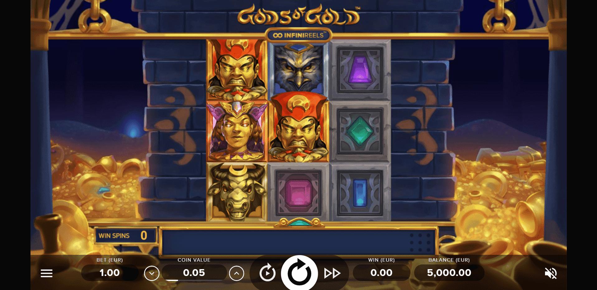 Gods of Gold Infinireels slot machine screenshot