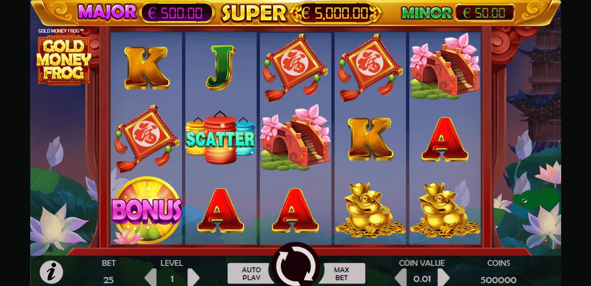 Gold Money Frog slot machine screenshot