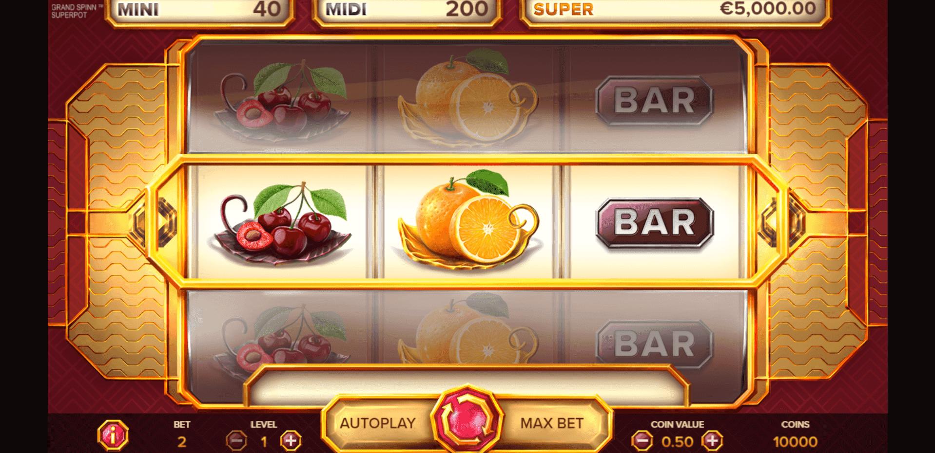 Grand Spinn Superpot slot machine screenshot