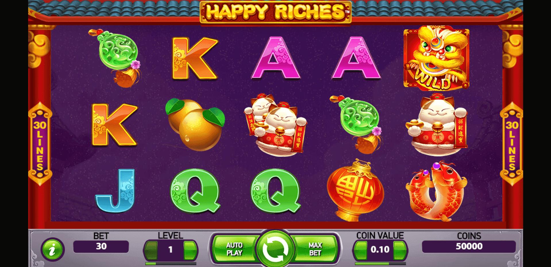 Happy Riches slot machine screenshot