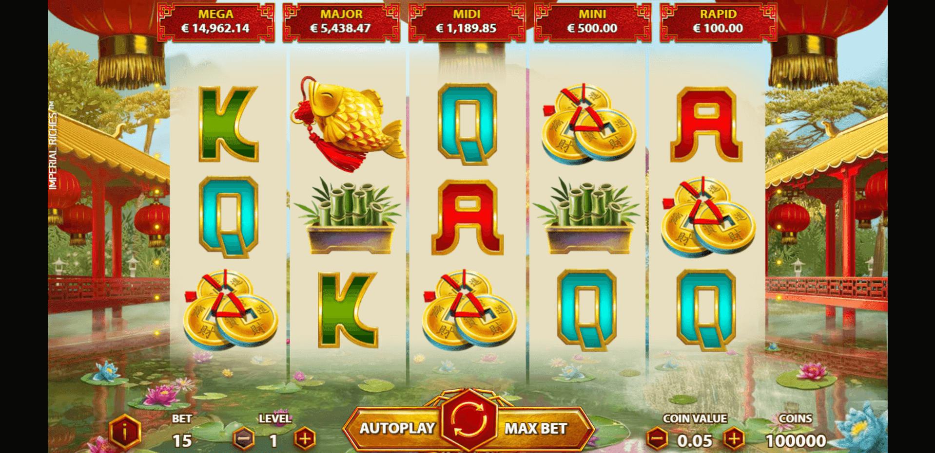 Imperial Riches slot machine screenshot