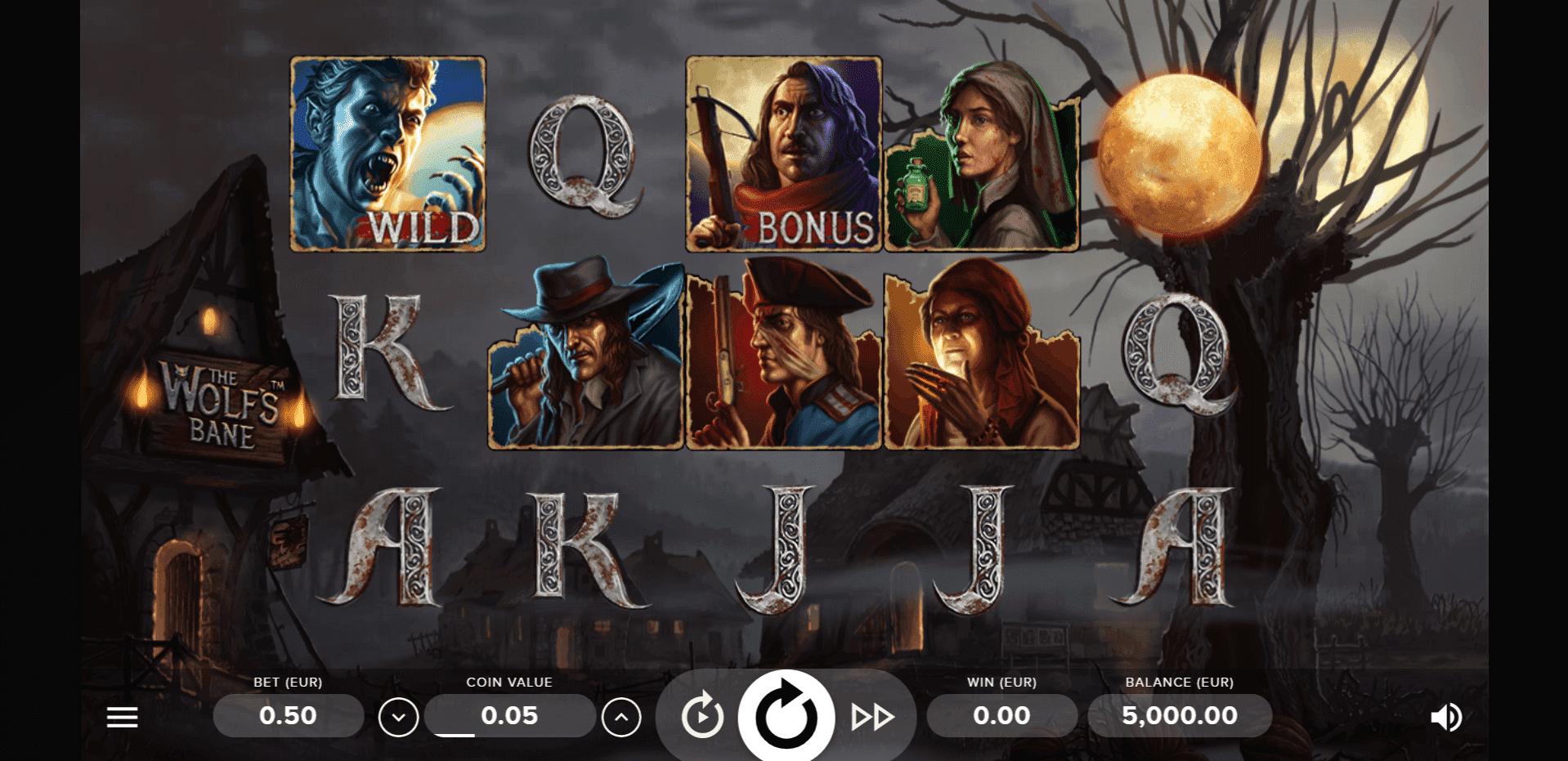 The Wolfs Bane slot machine screenshot
