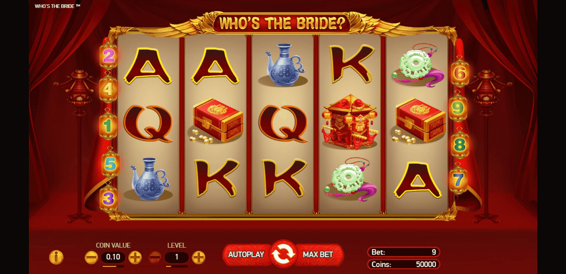 Whos the Bride slot machine screenshot