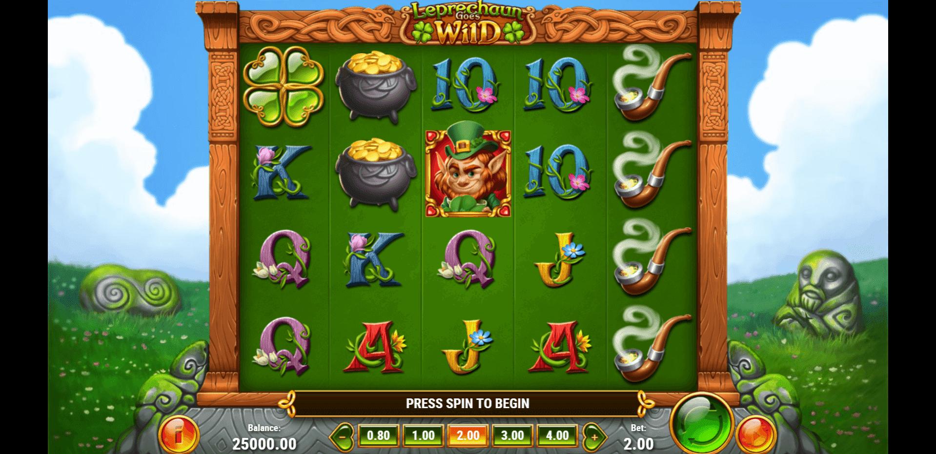 Leprechaun Goes Wild slot machine screenshot