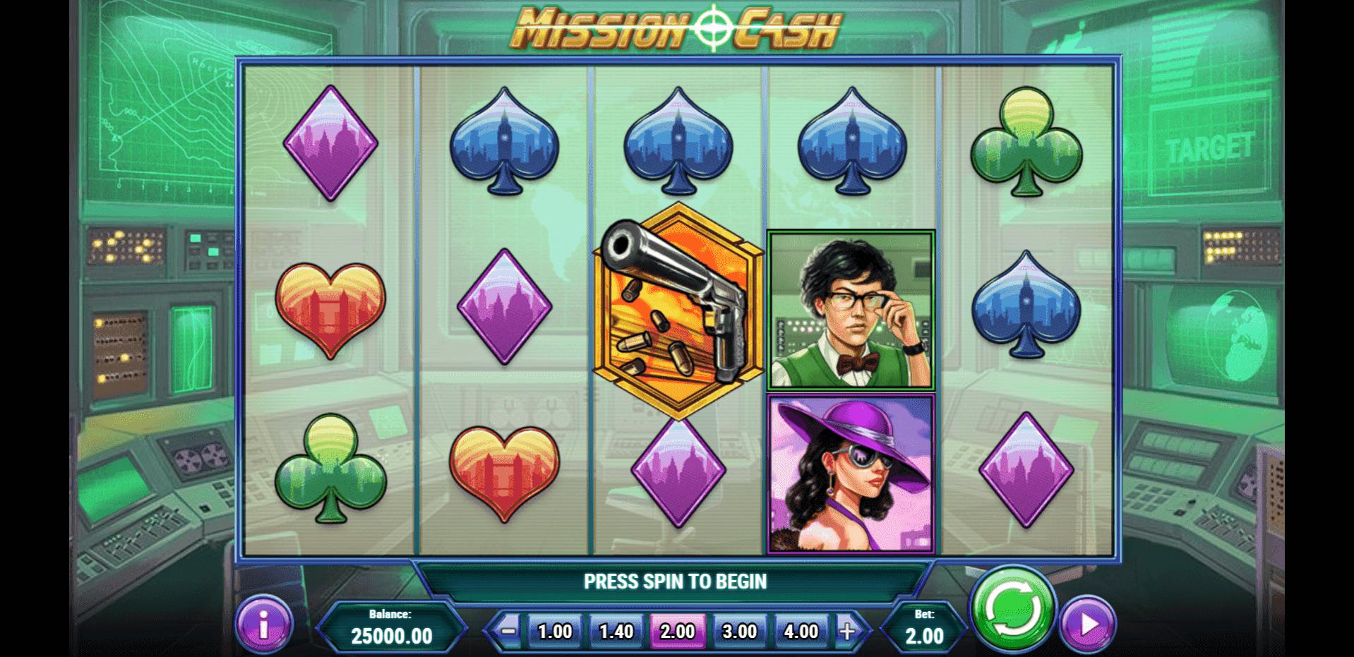 Mission Cash slot machine screenshot