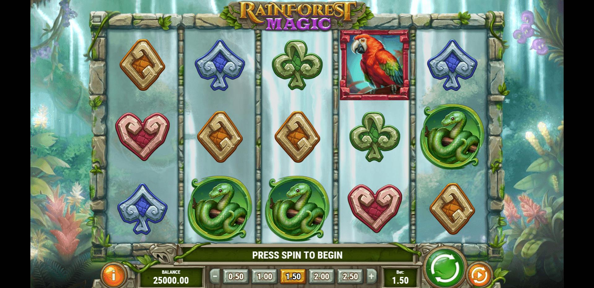 Rainforest Magic slot machine screenshot