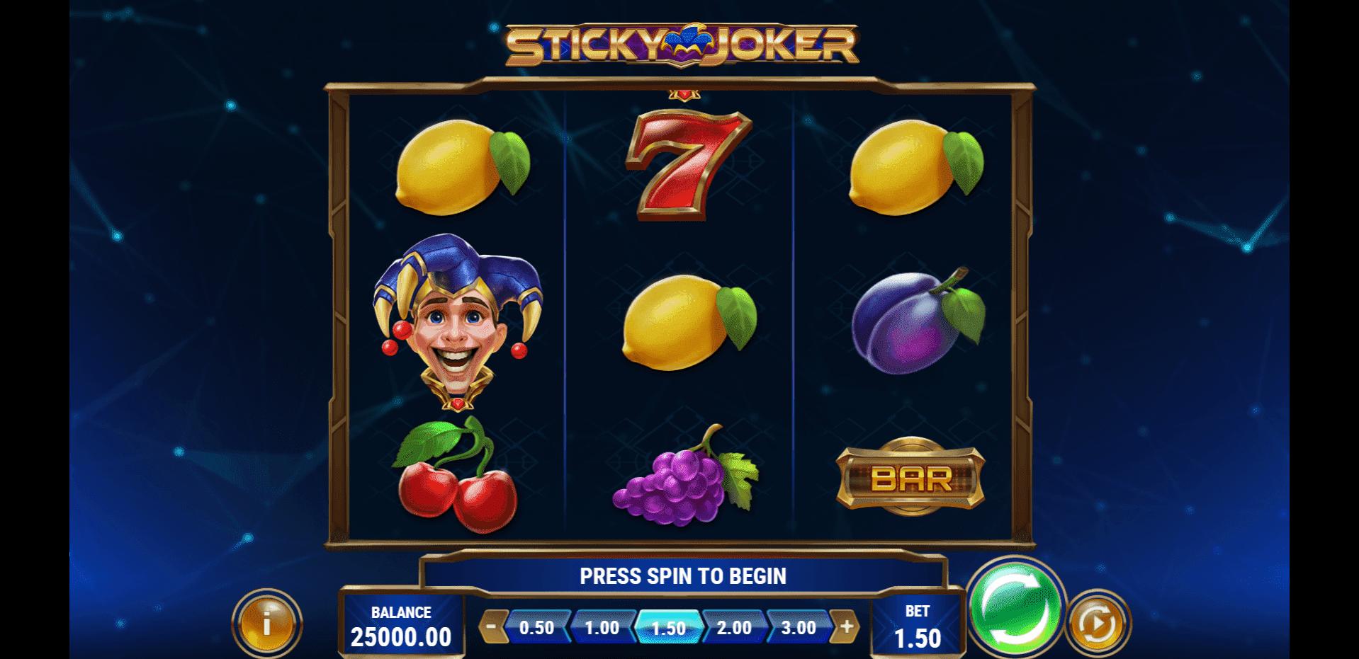 Sticky Joker slot machine screenshot